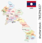 laos administrative and... | Shutterstock .eps vector #785296327