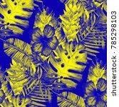 watercolor seamless pattern... | Shutterstock . vector #785298103