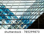 abstract reflections in glass... | Shutterstock . vector #785299873