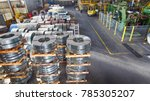 cold rolled steel coil at... | Shutterstock . vector #785305207