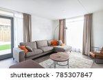 living room modern house | Shutterstock . vector #785307847