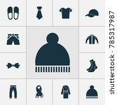 garment icons set with home... | Shutterstock .eps vector #785317987