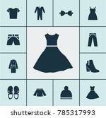 garment icons set with sundress ...   Shutterstock .eps vector #785317993