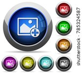 add new image icons in round... | Shutterstock .eps vector #785324587