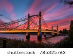 long exposure shot of the... | Shutterstock . vector #785325763