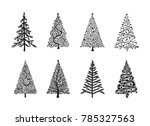 christmas tree  collection for... | Shutterstock .eps vector #785327563