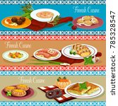 finnish cuisine dinner of... | Shutterstock .eps vector #785328547