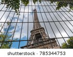 view of the eiffel tower in... | Shutterstock . vector #785344753