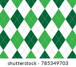green argyle background | Shutterstock .eps vector #785349703