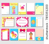 cards  sticky notes  stickers ... | Shutterstock . vector #785351203