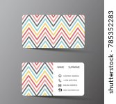 modern business card template... | Shutterstock .eps vector #785352283