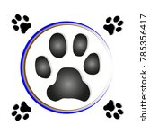 paw print dog | Shutterstock .eps vector #785356417
