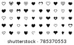heart shapes icons set. simple...