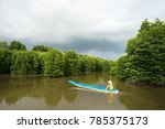 mangrove forest with fishing... | Shutterstock . vector #785375173