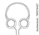 headphones vector illustration  ... | Shutterstock .eps vector #785376427
