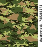 abstract camouflage pattern.... | Shutterstock .eps vector #785388973