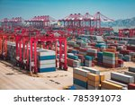 shanghai yangshan deepwater... | Shutterstock . vector #785391073