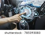 vehicle and graphical user... | Shutterstock . vector #785393083