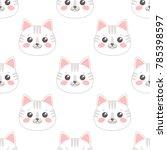 seamless pattern with cartoon... | Shutterstock .eps vector #785398597