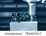 the cnc milling machine cutting ... | Shutterstock . vector #785407417