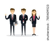 business people teamwork ... | Shutterstock .eps vector #785409523