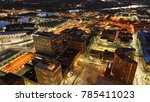 an aerial of cincinnati after... | Shutterstock . vector #785411023