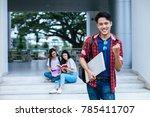 portrait of young asian boy...   Shutterstock . vector #785411707
