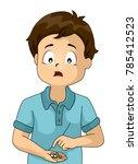 illustration of a kid boy... | Shutterstock .eps vector #785412523