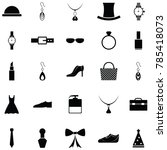 accessories icon set | Shutterstock .eps vector #785418073