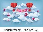 illustration of love and... | Shutterstock .eps vector #785425267