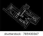 interior design vector sketch | Shutterstock .eps vector #785430367