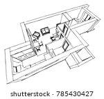 interior design vector sketch   Shutterstock .eps vector #785430427