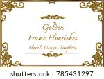 thai art  gold border frame... | Shutterstock .eps vector #785431297