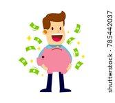 vector stock of a businessman... | Shutterstock .eps vector #785442037