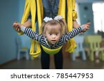 woman with child engaged in air ... | Shutterstock . vector #785447953