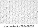 white triangular abstract... | Shutterstock . vector #785450857