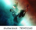 pair of dancers dancing... | Shutterstock . vector #785451163
