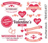 valentine template banner... | Shutterstock .eps vector #785451457