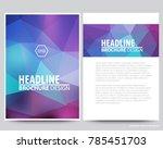 abstract vector modern flyers... | Shutterstock .eps vector #785451703