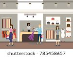 interior of a modern and... | Shutterstock .eps vector #785458657