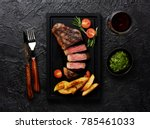 meat picanha steak  traditional ... | Shutterstock . vector #785461033