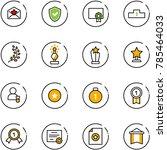 line vector icon set   star...   Shutterstock .eps vector #785464033