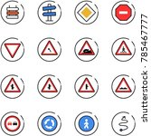 line vector icon set   sign... | Shutterstock .eps vector #785467777