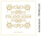 vintage wedding card design... | Shutterstock .eps vector #785481163