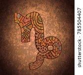 capricorn zodiac sign.... | Shutterstock . vector #785504407