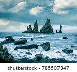 dramatic seascape of... | Shutterstock . vector #785507347