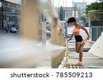 african american woman jogger... | Shutterstock . vector #785509213