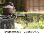 indian copper water vessel with ... | Shutterstock . vector #785510977