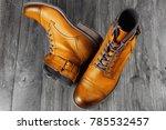 yellow shoes. fashion men's...   Shutterstock . vector #785532457