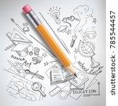 Vector Realistic Pencil On...